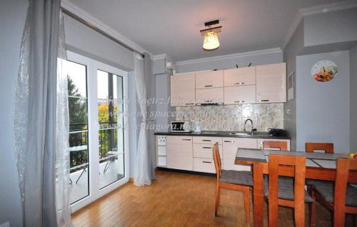 aneks kuchenny i widok za oknem
